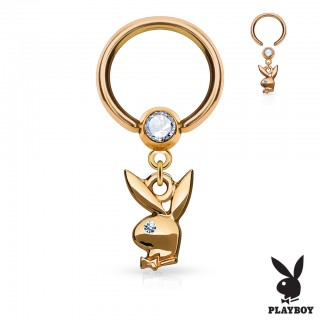 Dangling Playboy bunny captive bead ring