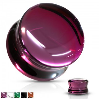 Coloured saddle fit concave glass plugs