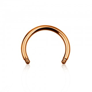 Rose gold coloured loose bar for circular barbells