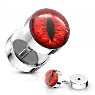 Fake plug with coloured snake eye inlay ball