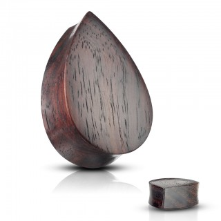 Sono wood tear drop shaped saddle fit plug