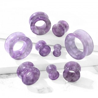 Saddle fit tunnel made of amethyst stone
