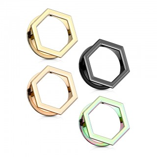 Coloured hexagon shaped front double flared tunnel