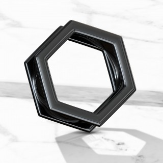 Black screw fit hexagon shaped tunnel
