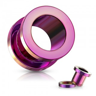 Titanium coloured screw fit tunnels