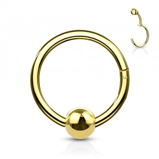 Coloured hinged ball closure click ring with 4 mm fixed ball