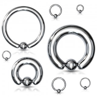Hematite plated ball closure ring