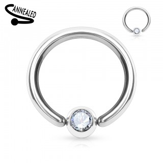 Ball closure ring with jeweled ball attached