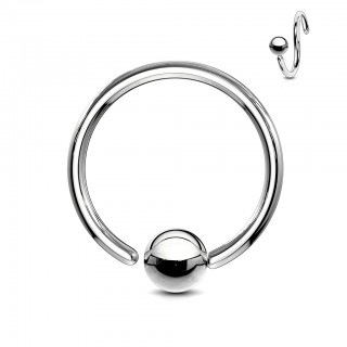 Stalen ball closure ring met vast balletje