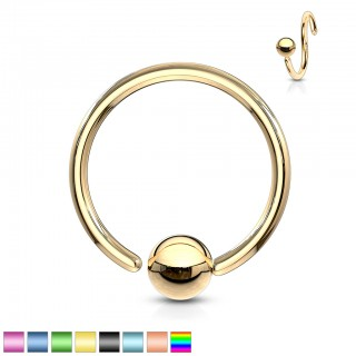 Ball closure ring met vast balletje