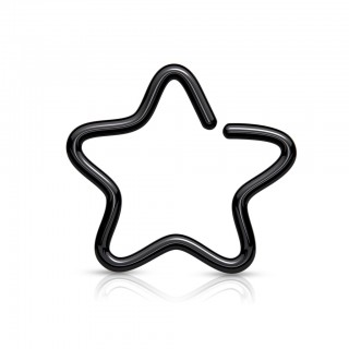 Star shaped steel clip-on ring