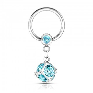 Multi - gemmed dangling ball closure ring