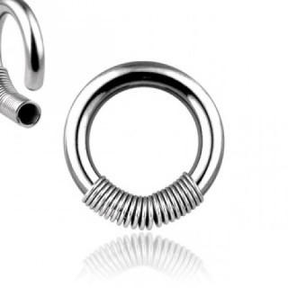 Ball closure ring with spiral spring - 14 GA / 1.6 mm - 3/8 '' / 10 mm