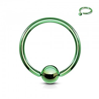 Alloyed steel captive bead ring with colour options