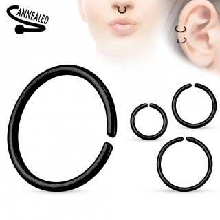 Multifunctional piercing ring with titanium alloy