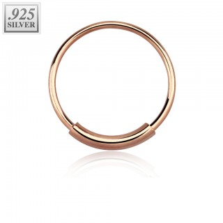 Sterling silver nose ring with bar
