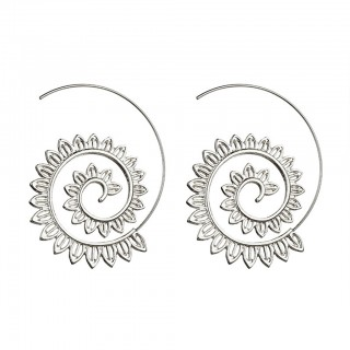 Coloured spiral earrings with vintage design