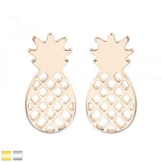 Coloured pineapple shaped stud earring pair