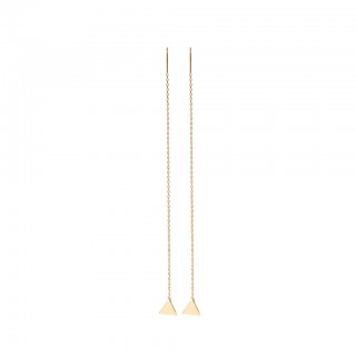 Coloured long ear dangles with flat triangle