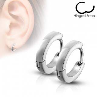 Small surgical steel basic hooped earrings