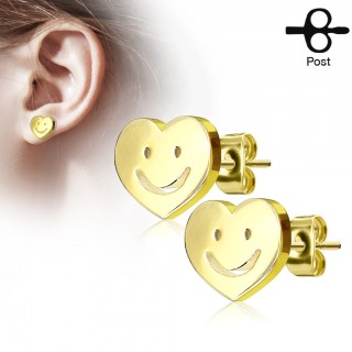 Happy heart ear piercing set
