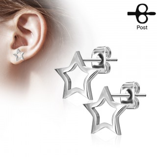 Ear piercing with decorative cut-out star