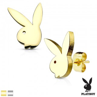 Playboy bunny decorated earrings