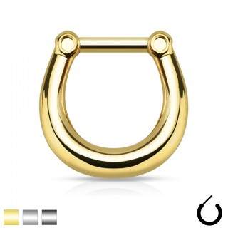 Simple design septum clicker piercing of surgical steel