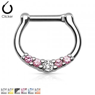 Crystalised septum clicker piercing