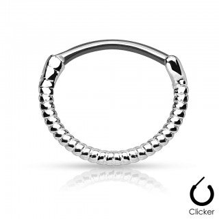 Septum ring with coloured roping strip