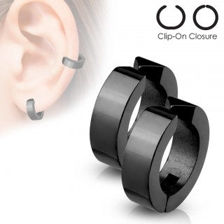 Plated steel clip-on earrings