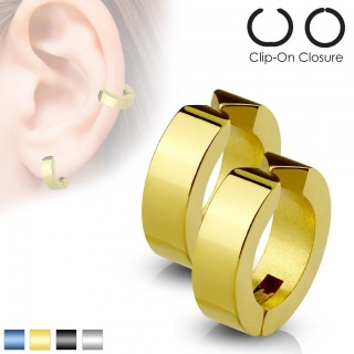 Set of fake clip-on earrings with plating