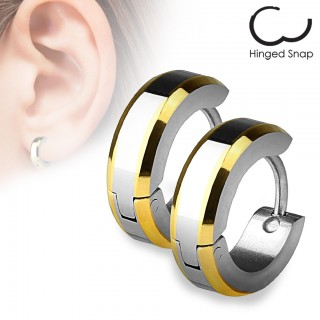 Earrings with dual coloured edges