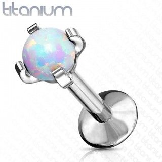 Opal claw fit internally threaded solid titanium labret