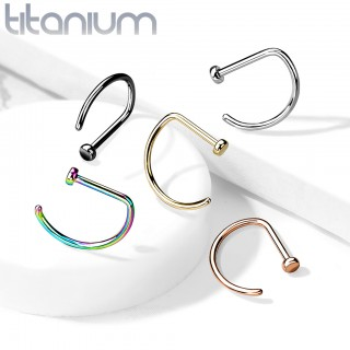 D-shaped Nose Hoop with flat end