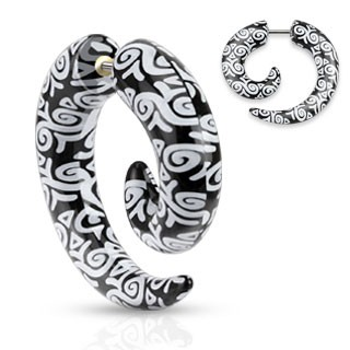 Fake spiral taper with tribal pattern