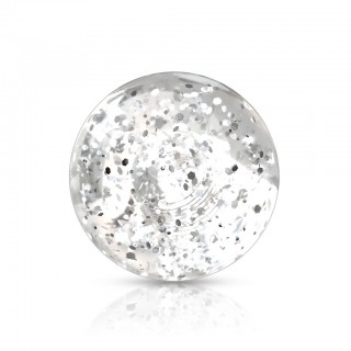 Piercing ball with glitter