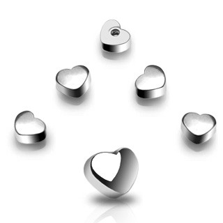 Steel screw ball in heart shape