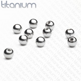 Titanium screw balls