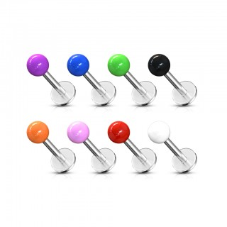 8 piece ultra violet coloured labret stud tops set