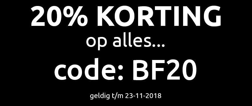 20% op alles!