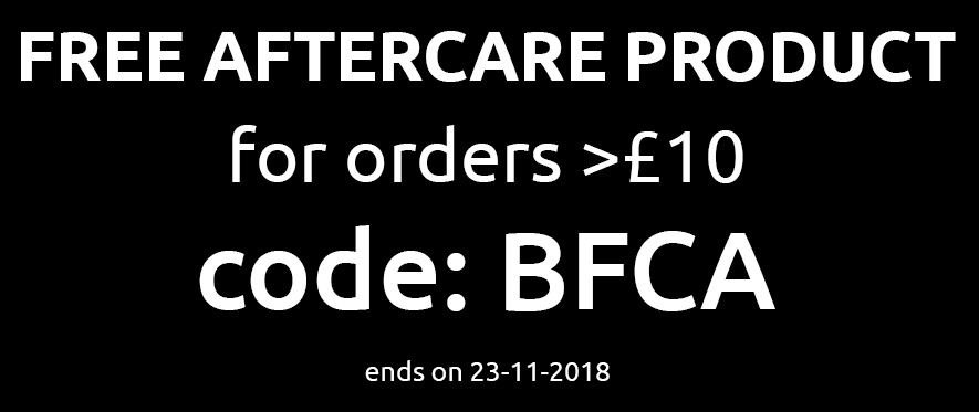 Free Aftercare for orders > 10£