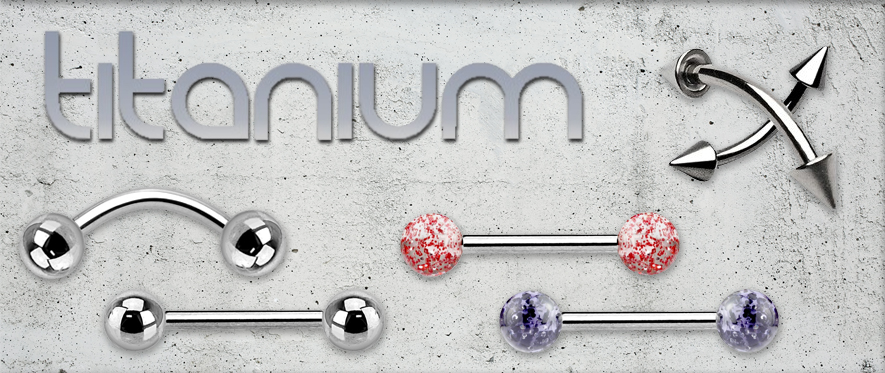 Titanium Barbell Jewellery