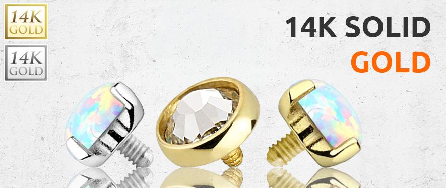 Gold Dermal Jewellery