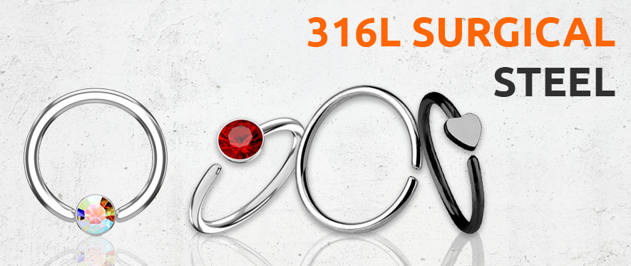 Surgical Steel Ring Jewellery