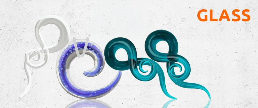 Glass Stretcher Taper Jewellery